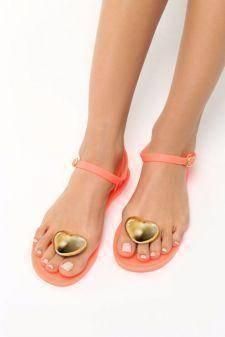 Sandale dama Abigaia Portocalii
