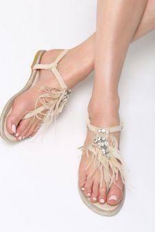 Sandale dama Andira Bej