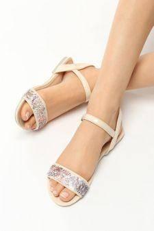 Sandale dama Awiti Bej