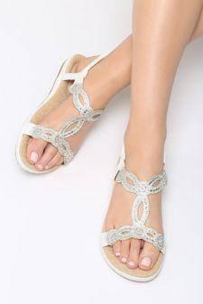 Sandale dama Chalten Albe