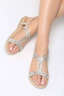 Sandale dama Chalten Aurii