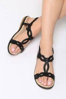 Sandale dama Chalten Negre