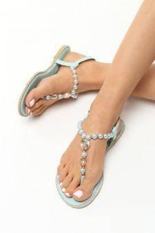 Sandale dama Christiana Albastre
