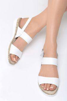 Sandale dama Divala Albe