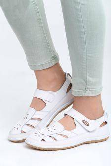 Sandale dama Dot Albe