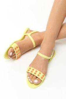 Sandale dama Eforie Galbene