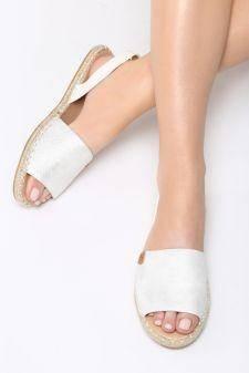 Sandale dama Erizos Albe