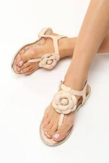 Sandale dama Fiona Bej