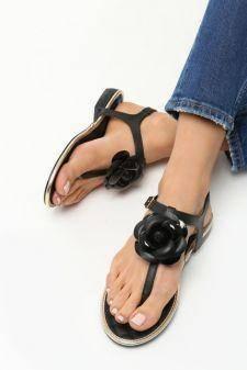 Sandale dama Fiona Negre
