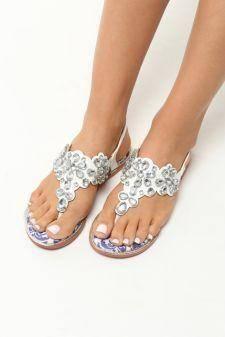 Sandale dama Florentina Albe