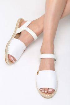 Sandale dama Foyel Albe