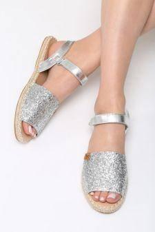 Sandale dama Foyel Argintii