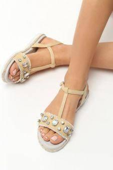 Sandale dama Hateya Bej