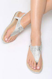 Sandale dama Naseby Albe