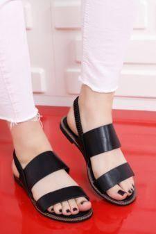 Sandale dama Nurma negre cu talpa joasa