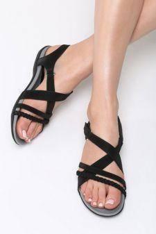 Sandale dama Panduro Negre
