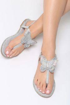 Sandale dama Toyos Gri