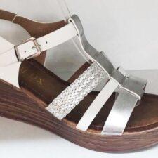 Sandale dama alb cu argintiu Fatima2