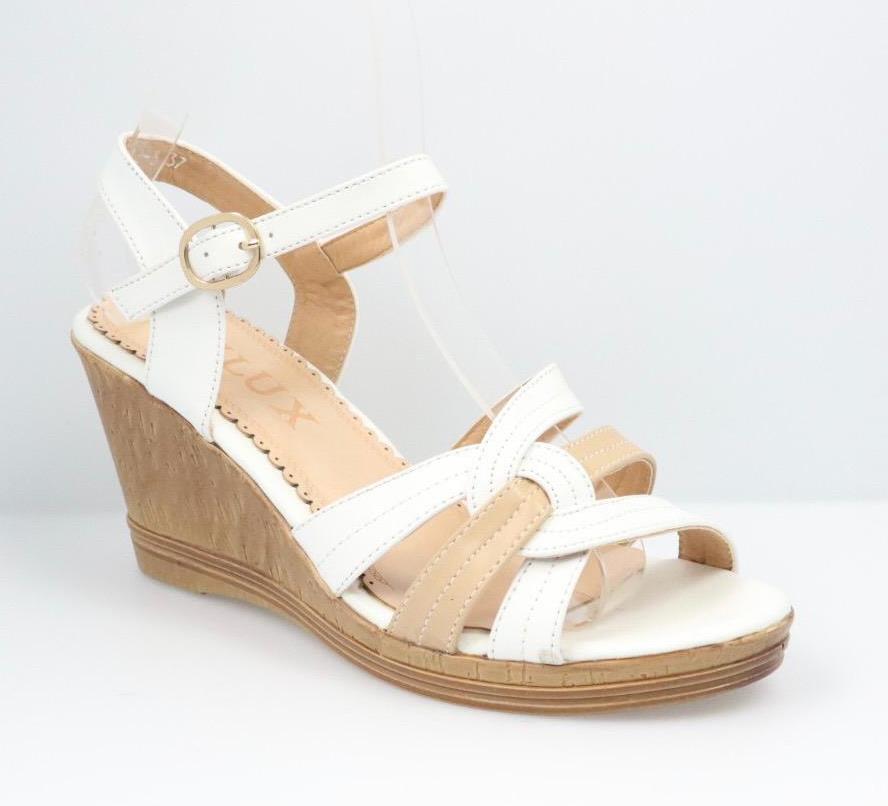 Sandale dama alb cu bej Lori