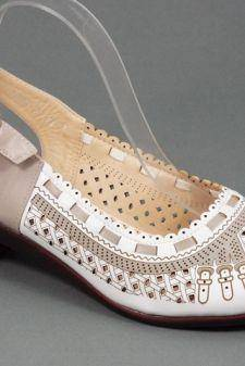 Sandale dama alb cu gri Daniela