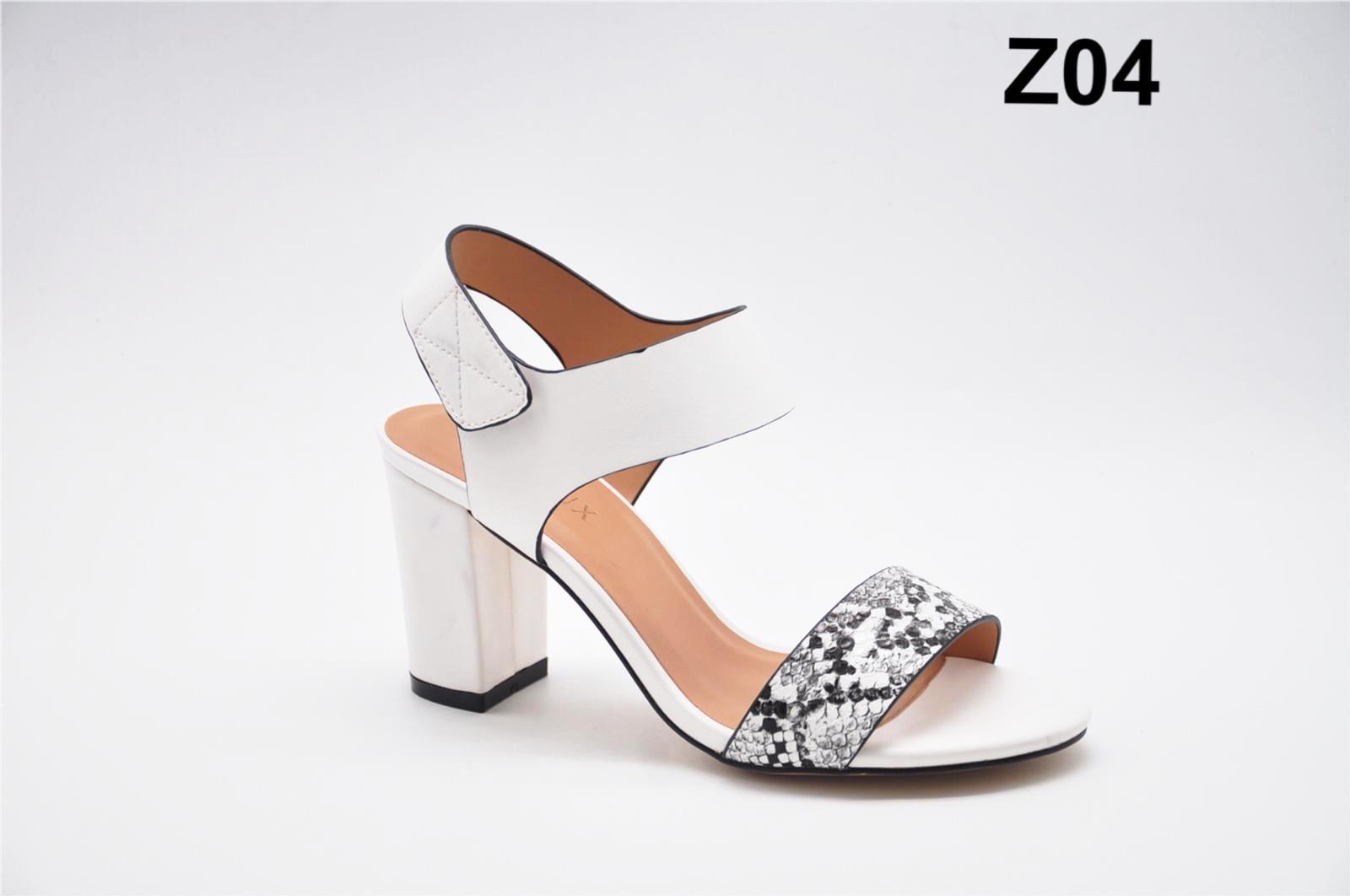 Sandale dama alb cu negru croco Nadine