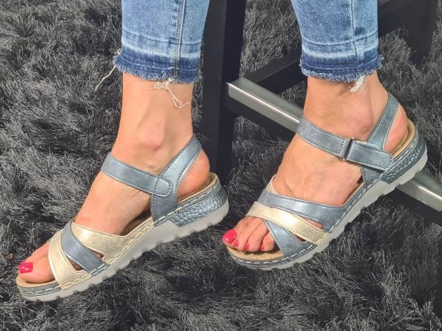 Sandale dama albastre Ecaterina