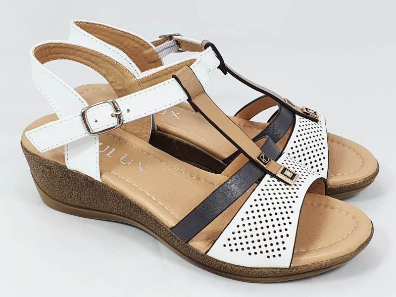 Sandale dama albe Alma2