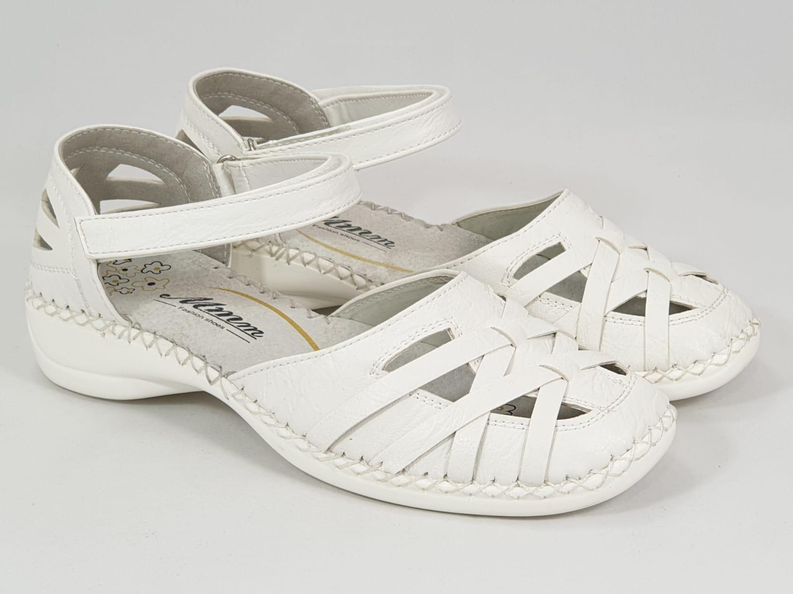Sandale dama albe Amelia
