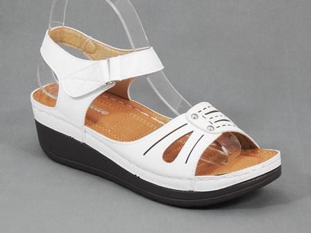 Sandale dama albe Eliza