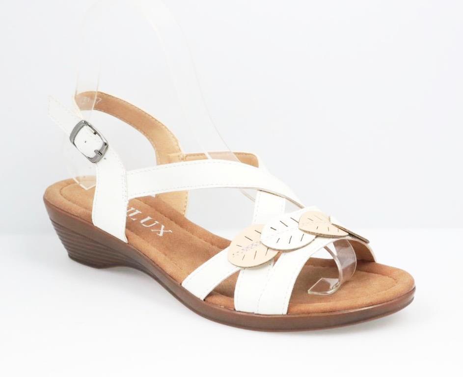 Sandale dama albe Gala