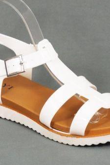Sandale dama albe Gynette