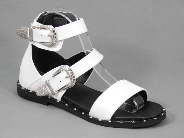 Sandale dama albe Hortensia