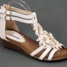 Sandale dama albe Kabyne