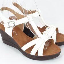 Sandale dama albe Laura