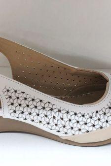 Sandale dama albe Livia