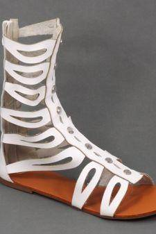 Sandale dama albe Romana
