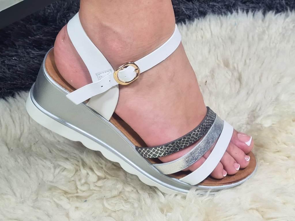 Sandale dama albe Sirina