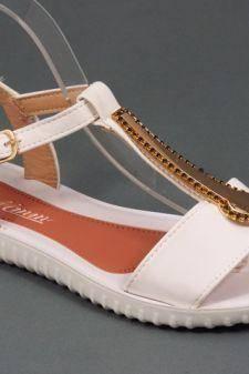 Sandale dama albe Sonya
