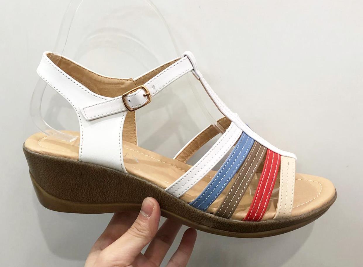 Sandale dama albe Teodora