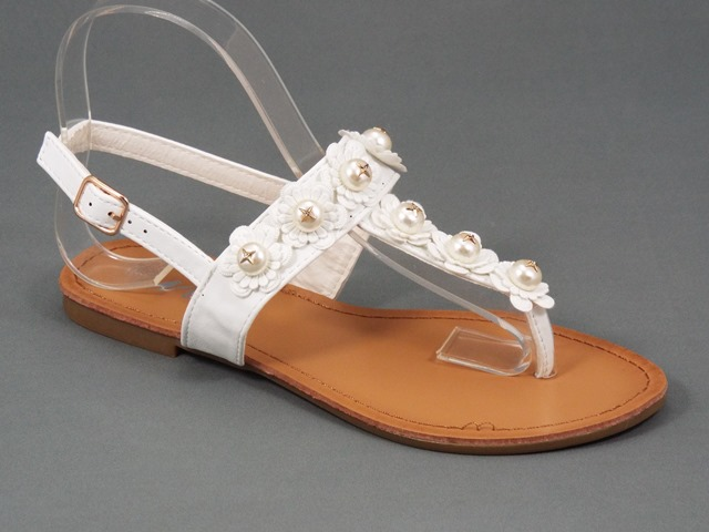 Sandale dama albe Valeria