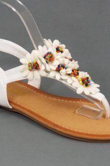 Sandale dama albe Vera