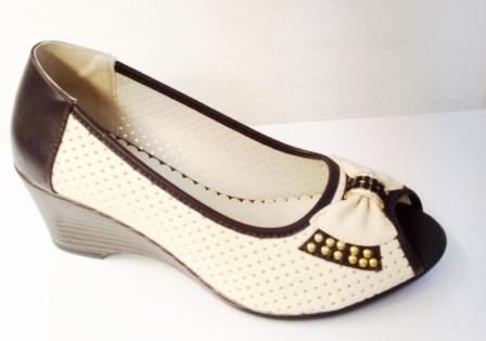 Sandale dama albe cu bleumarin cu talpa ortopedica