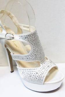 Sandale dama albe