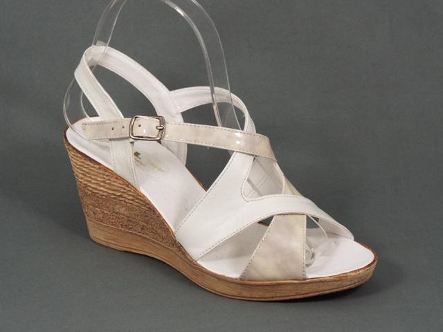Sandale dama albe ortopedice toc 7