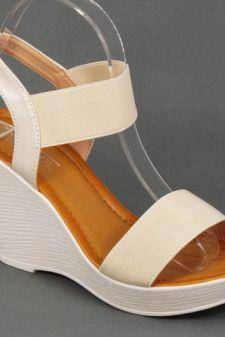Sandale dama albe ortopedice toc 9