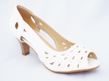 Sandale dama albe perforate