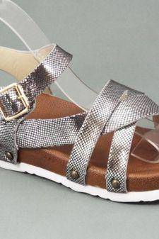 Sandale dama argintii Aura