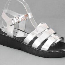 Sandale dama argintii Elena