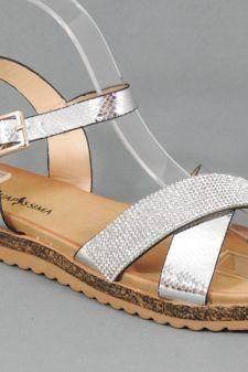 Sandale dama argintii Elvira
