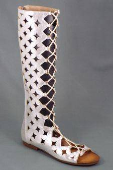 Sandale dama argintii Lola